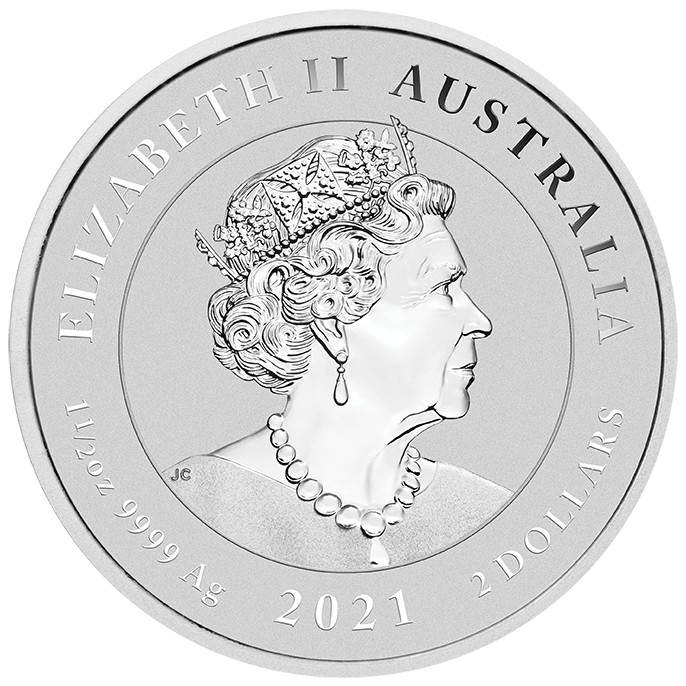 The Perth Mint - 2021 Australian Spotted Eagle Ray 1.5oz Silver Coin
