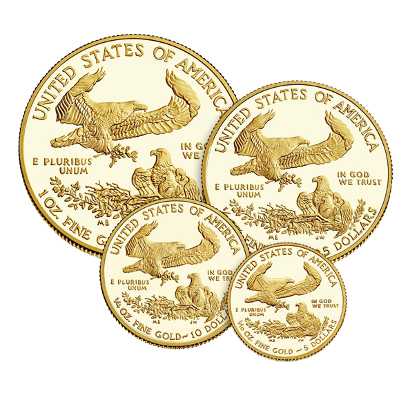 United States Mint - Gold American Eagle Proof - 4 Coin Set