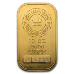 10 Ounce Royal Canadian Mint (RCM) Gold Bar