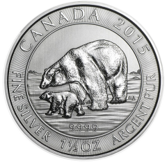 Royal Canadian Mint - Silver Polar Bear & Cub