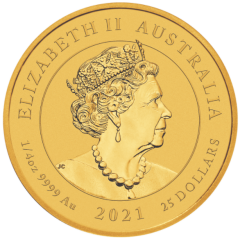 THE PERTH MINT - AUSTRALIAN SPOTTED EAGLE RAY 2021 1/4oz GOLD BULLION COIN