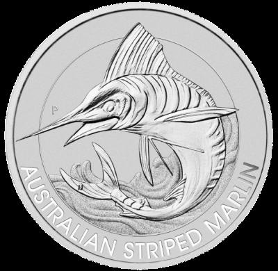 The Perth Mint - Australian Striped Marlin 2020 1.5 oz Silver Bullion Coin