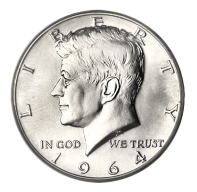 United States Mint - Silver Kennedy Half Dollar BU 1964