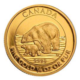 Gold Polar Bear & Cub