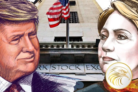 Clinton vs Trump War on Cash Stock Market Will Crash